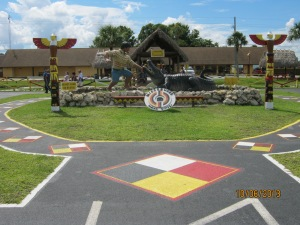 Entrance to the Miccosukee Indian Reservation