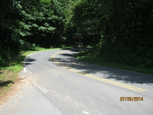 NC 80 was a mere cow path and horse trail in the late 18th and early 19th centuries. It was, and remains today, the only road to and from Kona, NC.